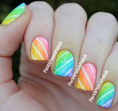 PackAPunchPolish: Gradient Candy Stripes