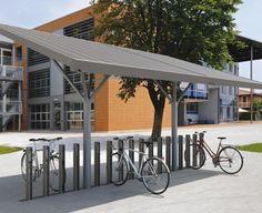 nekkar shelter Best Bike Rack, Diy Bike Rack, Bicycle Rack, Urban Furniture, Street Furniture, Metal Furniture, Luxury Furniture, Cycle Shelters, Bike Shelter