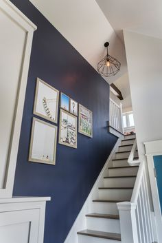 This Old House 2017 Idea House is a classic shingle style beach house in South Kingstown, Rhode Island with a coastal-inspired color palette and sophisticated yet relaxed feel. Blue Hallway, Hallway Colours, House Of Turquoise, Flur Design, Shingle Style Homes, Dream Beach Houses, Hallway Designs, Coastal Living Rooms, Hallway Decorating