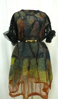 Elynn Bernstein | Black Nuno Felted Dress Felted Dresses