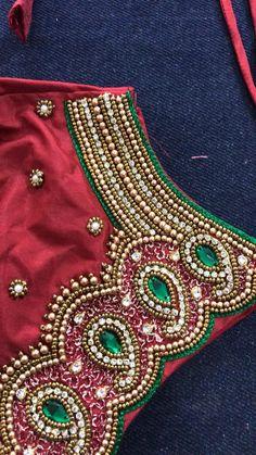 Cutwork Blouse Designs, Best Blouse Designs, Wedding Saree Blouse Designs, Simple Blouse Designs, Embroidery Neck Designs, Blouse Neck Designs, Mirror Work Blouse Design, Maggam Work Designs, Designer Blouse Patterns