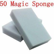 50pcs NEW ERASER CLEANER MAGIC MELAMINE SPONGE CLEANING 100x60x15MM