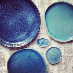 blueplates Clay Creations, Shades Of Blue, Food Styling, Plates, Tableware, Pottery, Licence Plates, Dishes, Dinnerware