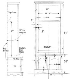 Free Gun Rack Plans - How to Build a Gun Rack - wouldn't use it ...