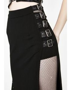 Punk Sexy Slim Half Skirt Punk Rave Punk Sexy Slim Half Skirt is gonna send 'em to oblivion babe. Rule the underworld in this dope maxi skirt that has a high-waist fit, eyelet hardware detailz, and buckles on the side. Punk Outfits, Gothic Outfits, Fashion Outfits, Womens Fashion, Fashion Trends, Fashion Clothes, Alternative Mode, Alternative Fashion, Dark Fashion