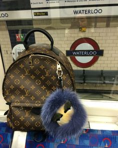 Louis Vuitton backpack and Fendi Monster