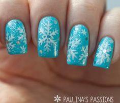 Nail Art Tutorial: Sparkling Snowflakes | NailIt! Magazine
