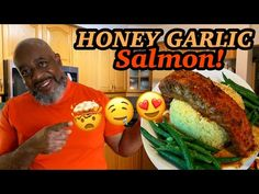 How to make baked Honey Garlic Salmon! - YouTube Recipes With Fish And Shrimp, Fish And Seafood, Shrimp Recipes, Fish Recipes, Garlic Salmon, Baked Salmon, Trini Food, Food Videos, Honey
