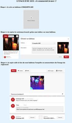 Grand Jeu Pinterest L'Enquête LED : Comment jouer ?