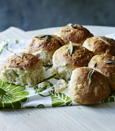 Sage and onion tear and share bread rolls.