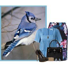Blue Jay by angelysty on Polyvore featuring Sonia Rykiel, Adrianna Papell, Dolce&Gabbana, Rosena Sammi Jewelry, Kate Spade and Vinaya
