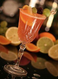 La #sangria blanche au #champagne : un #cocktail de #fête
