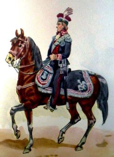 General royal army in uniform to Rules of Procedure, July 17, 1789. Fig. B. Gembarzewski.