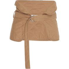 Jil Sander Cotton Layered Belt (€395) ❤ liked on Polyvore featuring accessories, belts, neutral, jil sander belt and jil sander