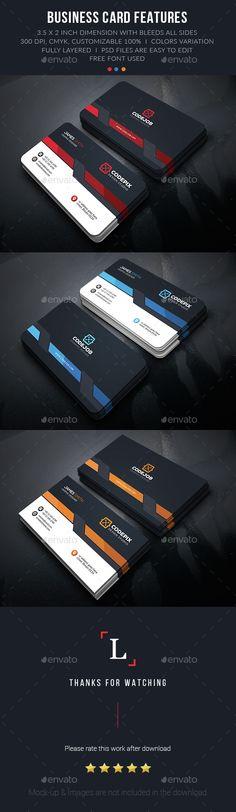 Modern Business Card Template PSD. Download here: http://graphicriver.net/item/modern-business-card/15181338?ref=ksioks
