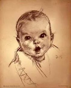 My mother lived up to her namesake and began modeling as a baby.   She was the runner up for a 1952 Gerber baby contest.