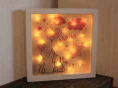 personalisiertes NACHTLICHT Geschenk zur Geburt Taufe Geburtstag Baby Kind, Table Lamp, Paper, Home Decor, Personalized Baby, Night Light, Personalized Gifts, Great Gifts, Table Lamps