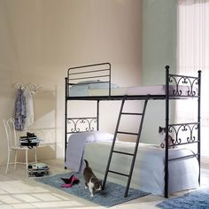 Vienna Bunk Bed by Cosatto This bunk bed comes also as a single bed. The elegance and smartness of this bed is underlined by the revival of the traditionally Italian wrought iron framed beds, which were particularly popular in the last century and are evergreen. The wrought iron frame is particularly appreciated because of its durability and reliability.
