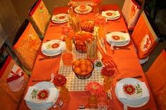 Two friends and I threw a dinner party to celebrate our friend's Birthday and upcoming wedding! She loves the color orange - so we cele. Peach Party, Orange Party, Orange Wedding, Yellow Birthday Parties, Party Themes, Party Ideas, Theme Ideas, Orange You Glad, Party Entertainment