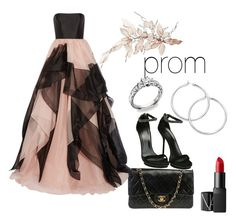 """""""prom 3"""" by cjflynn on Polyvore featuring Chanel, Gucci, Reem Acra and NARS Cosmetics"""