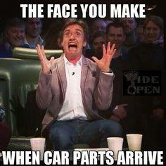 "Dieseltees -""THE FACE YOU MAKE WHEN CAR PARTS ARRIVE"""" | memes | http://www.dieseltees.com/ #dieseltees #truckmemes"
