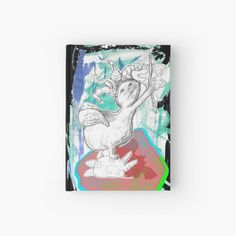 """""""Big Victory From Goddess Nike (Drawing by Alice CCI)"""" Hardcover Journal by VanyssaGraphics 