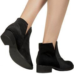 Bota de cano curto preta de veludo Taquilla - Taquilla - Loja online de sapatos femininos