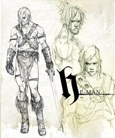 Marko Djurdjevic. Character Design for He-Man and the Masters of the Universe