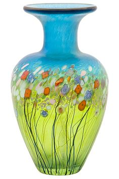 Glass vase, joy got for me in sun valley.  artist Robert Held, san francisco $105 as of 2012.  I got in about 2010