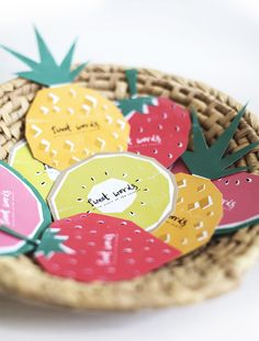 Free printable fruit themed cards for guest book well wishes at your weddin Diy And Crafts Sewing, Crafts To Sell, Craft Wedding, Wedding Blog, Origami, Fruit Party, Craft Organization, Craft Gifts, Card Crafts