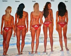 The covers alone are reason enough to buy the new Tampa Bay Bucs cheerleader bikini calendar , and I haven't even seen the inside yet! Buccaneers Cheerleaders, Football Cheerleaders, Football Girls, Tampa Bay Buccaneers, Cheerleading, Football Team, Connie Carter, Bikini Beach, Beach Babe