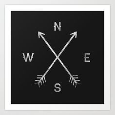 Compass Art Print by Zach Terrell - $17.00