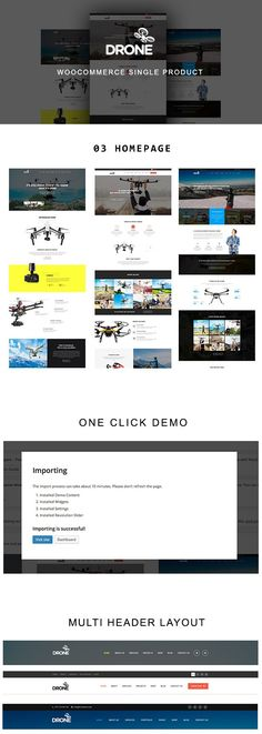 #Drone is wonderful Single Product WordPress #theme built with #WooCommerce platform comes with 3 amazing pre-built homepage layouts. Download Now!