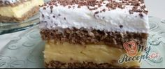 Famózní smetanový dort s Eclair kuličkami Chocolate Box Cake, Toblerone, Square Cakes, Pudding Desserts, Nutrition And Dietetics, Deep Dish, Lemon Curd, Eclairs, Tiramisu