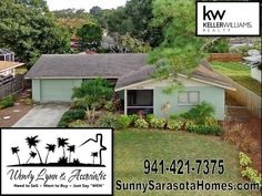 Sarasota Home For Sale 2085 Linwood Way M5903670 Fenced Backyard, 3 bedrooms, 2 baths, 1 car garage and updated kitchen. Fantastic Location 5 miles to Beaches and Downtown Sarasota!