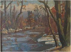 Hugh Campbell (American, 1905-1997), Rancocas Creek, ca. 1941, oil on canvas, signed