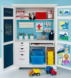 Super cute kid play station for small space (in front of connecting doorway?) Old Dresser