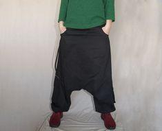 Twill Harem Pants, Winter Drop crotch pants, Thick cotton Boho Afghani Pants, Alibaba Pants Aladdin Pants, Harem Pants, Trousers, Drop Crotch Pants, Sleeveless Jacket, Old Jeans, Casual Wear, Boho, Hoodies