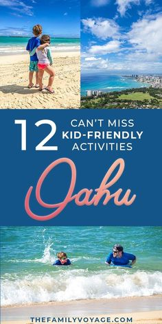 Ready to check out some Oahu, Hawaii activities with kids? Get your bucket list … Ready to check out some Oahu, Hawaii activities with kids? Get your bucket list ready, because you won't want to miss these kid-friendly things to do on Oahu! Kauai, Oahu Hawaii, Hawaii Travel, Travel Usa, Travel Tips, Travel Ideas, Hawaii Hula, Blue Hawaii, Thailand Travel