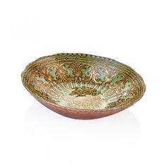 Bernardo Marrakech 30cm Oval Glass Bowl