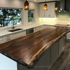 Browse our enormous selection of Kitchen Inspirations, Kitchens Live Edge, Home Decor Kitchen, Kitchen Style, Rustic Kitchen Design, Wood Countertops Kitchen, Kitchen Design, Kitchen Remodel, Rustic Kitchen