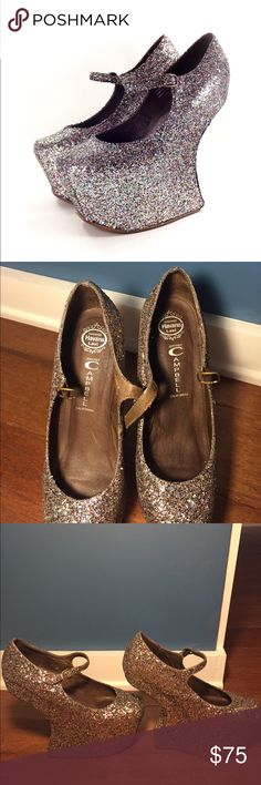 Jeffrey Campbell Glitter Platforms Authentic Jeffrey Campbell Glitter Platforms. Absolutely beautiful and surprisingly comfortable for a night out on the town. EUC size 8. Includes dust bags for shoes. Jeffrey Campbell Shoes Platforms