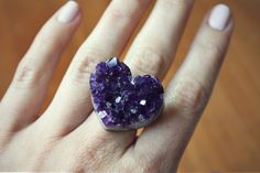 Amethyst heart Ring Gold by mooreaseal on Etsy