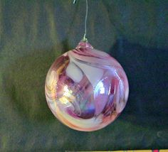 Retro Large Pink Blown Glass Christmas Ball by 1560main on Etsy, $12.00