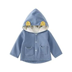 pureborn Infant Baby Boy Cotton Lined Hooded Ears Jacket Spring Autumn Outfit Blue Months -- To learn more, visit image web link. (This is an affiliate link). Baby Girl Jackets, Ear Jacket, Picture Link, 12 Months, Baby Shower Gifts, Ears, Infant, Autumn, Spring