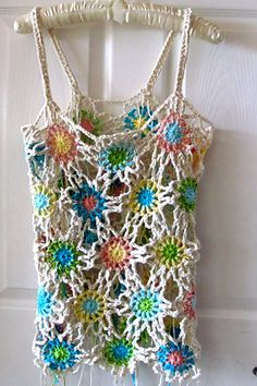 Excited to share this item from my shop: Crochet Flower Tank Top,Boho Hippie Yoga ,Summer Trend. Knitting For BeginnersKnitting For KidsCrochet ProjectsCrochet Scarf Flower Motif, Crochet Flower Patterns, Crochet Designs, Crochet Flowers, Crochet Lace, Crochet Summer, Ravelry Crochet, Crochet Motif, Crochet Tank Tops