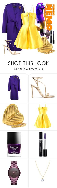 """Finding Nemo"" by velvy ❤ liked on Polyvore featuring Rochas, Gianvito Rossi, Yves Saint Laurent, Alex Perry, Butter London, Christian Dior, Michael Kors and Lotus Jewelry Studio"