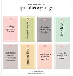 Modern Christmas Gift Tags Laura Winslow Photography Free Holiday Printable Round Up // Christmas Tags, Posters and More