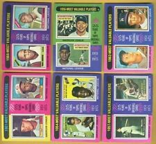 1975 Topps MOST VALUABLE PLAYER 24 Card Set  I have #192 $ #199