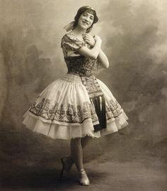 Deux Pigeons - Carlotta Zambelli (Gourouli) lors de la reprise à l'Opéra de 1912